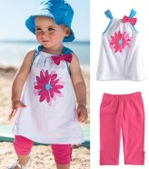 py0055-free-shipping-cute-baby-girl-beach-suit-fashion-kids-suit-top-quality-infant-clothes-set